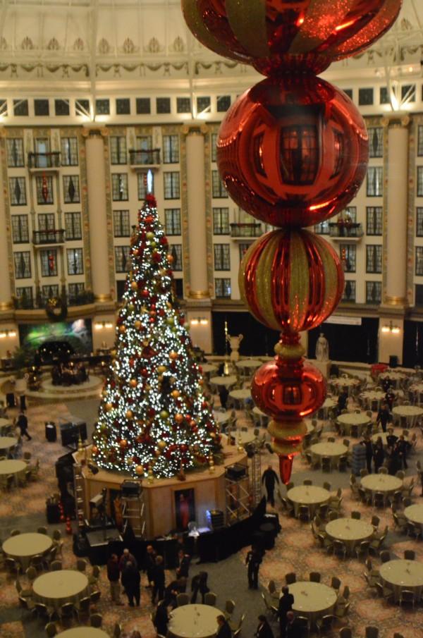 west baden atrium at Christmas