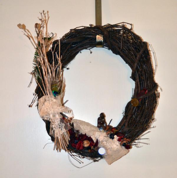 raku monk wreath