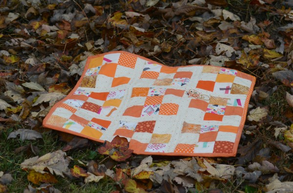 secret squirrel mini quilt