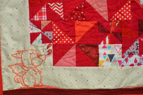 Puff the Fabric Dragon closeup