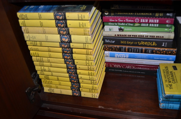 Nancy Drew books in storage