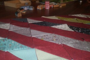 road 15 baby quilt progress