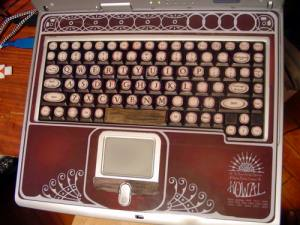 The finished keyboard