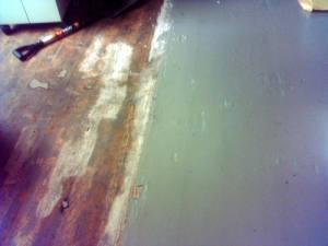 Wood and Linoleum