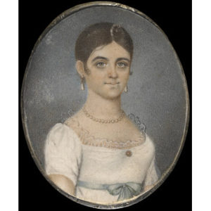 Head and shoulders portrait of an Anglo-Indian girl