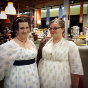 Two of the lovely ladies who came in costume to last night's event at @Powells