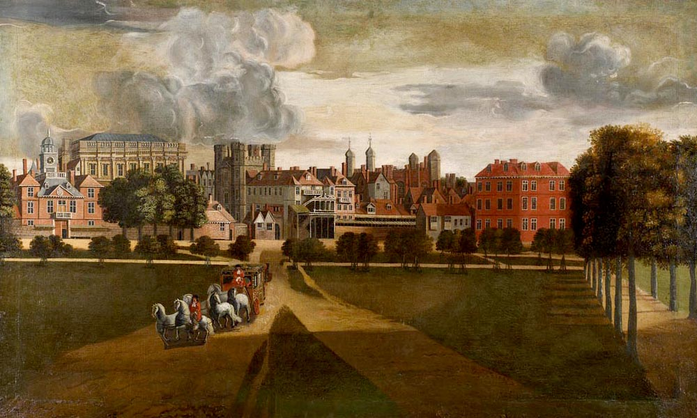 Image: The Old Palace of Whitehall by Hendrik Danckerts