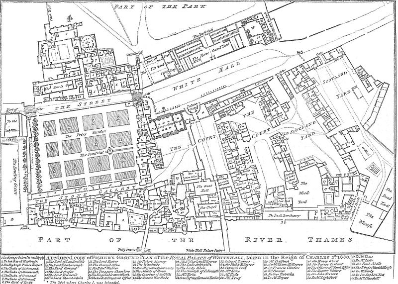Image: map of Whitehall