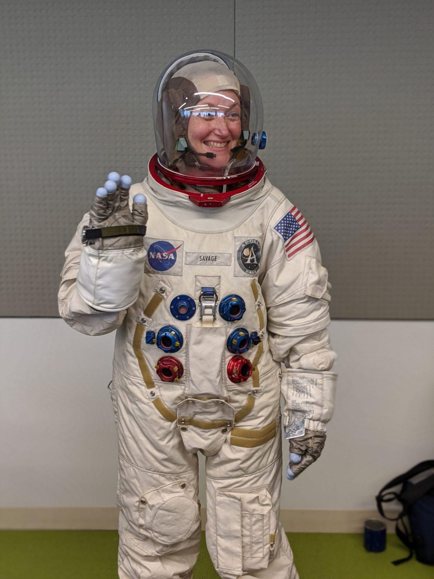 MRK in a Adam Savage's A7-L spacesuit replica