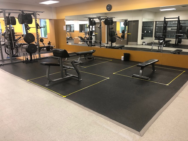 Plenty of space needed for an individual to workout. Membership rates are below.