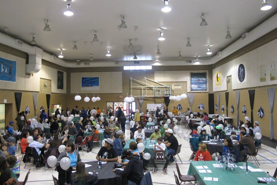 2013 Night of the Champions Sports Banquet. A picture of the community that gathered to attend in the gym/hall.
