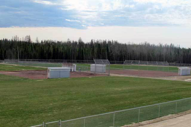 2 baseball diamonds are in the back of the JRMCC facility. The facility is fully fenced.
