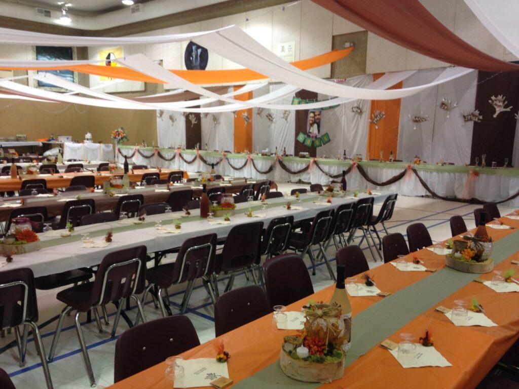 Wedding Reception in the hall/gymnasium