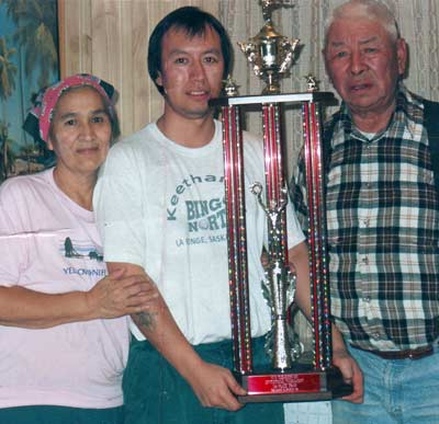 The Community Center is named in honor of the late, Jonas Roberts. Picture of him and his parents.