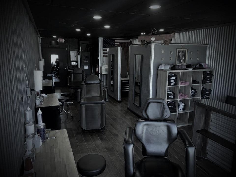 Interior of Crossroads Tattoo Studio in Denison, TX