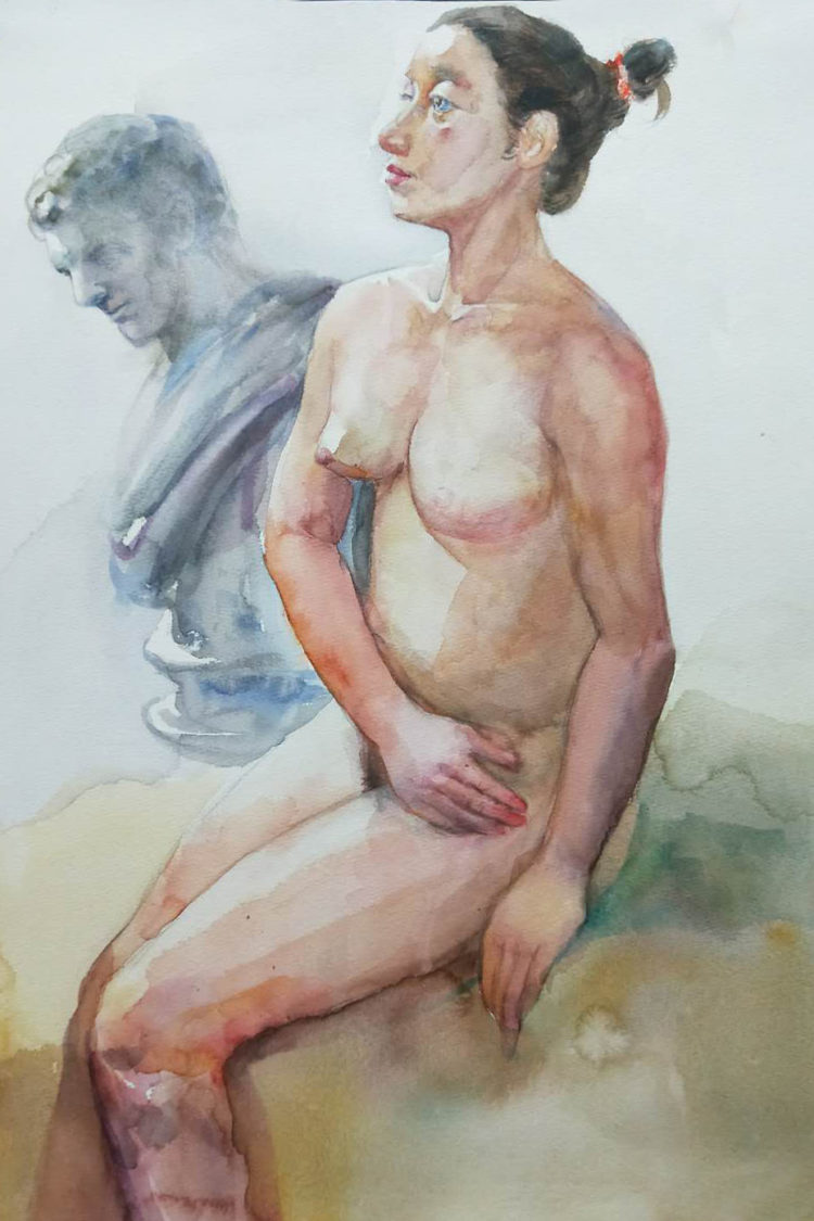 water_colour_painting-portrait_life_drawing_visual_arts_centre
