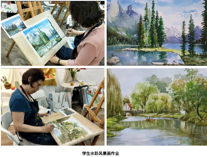 Watercolour painting art course in Singapore
