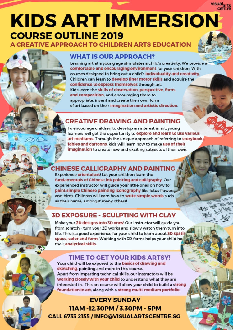 Kids Art Immersion Course in Singapore by Visual Arts Centre