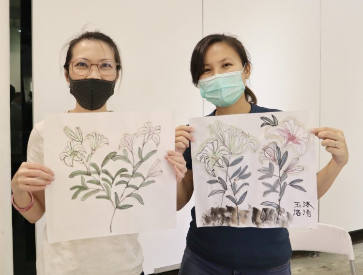 Chinese ink painting and calligraphy class at Visual Arts Centre, Chinese ink painting workshop