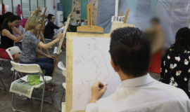 Our Nude Life Drawing with Artist Guidance workshop is conducted every month at Visual Arts Centre