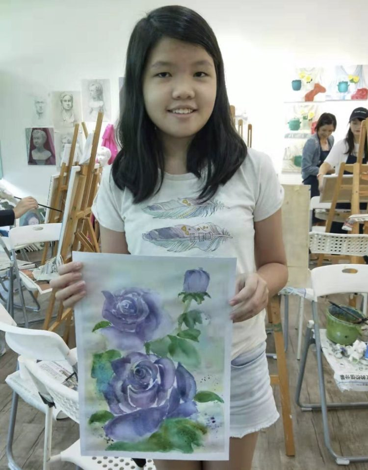 Watercolour art course, All medium art immersion course 24 sessions at Visual Arts Centre.