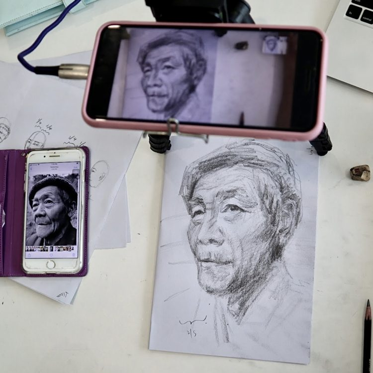 Zoom live meeting session Art virtual team building experience during covid19 coronavirus singapore teambuilding teambonding activities arts painting acrylic water color chinese ink painting easy custom Best art teambuilding in singapore