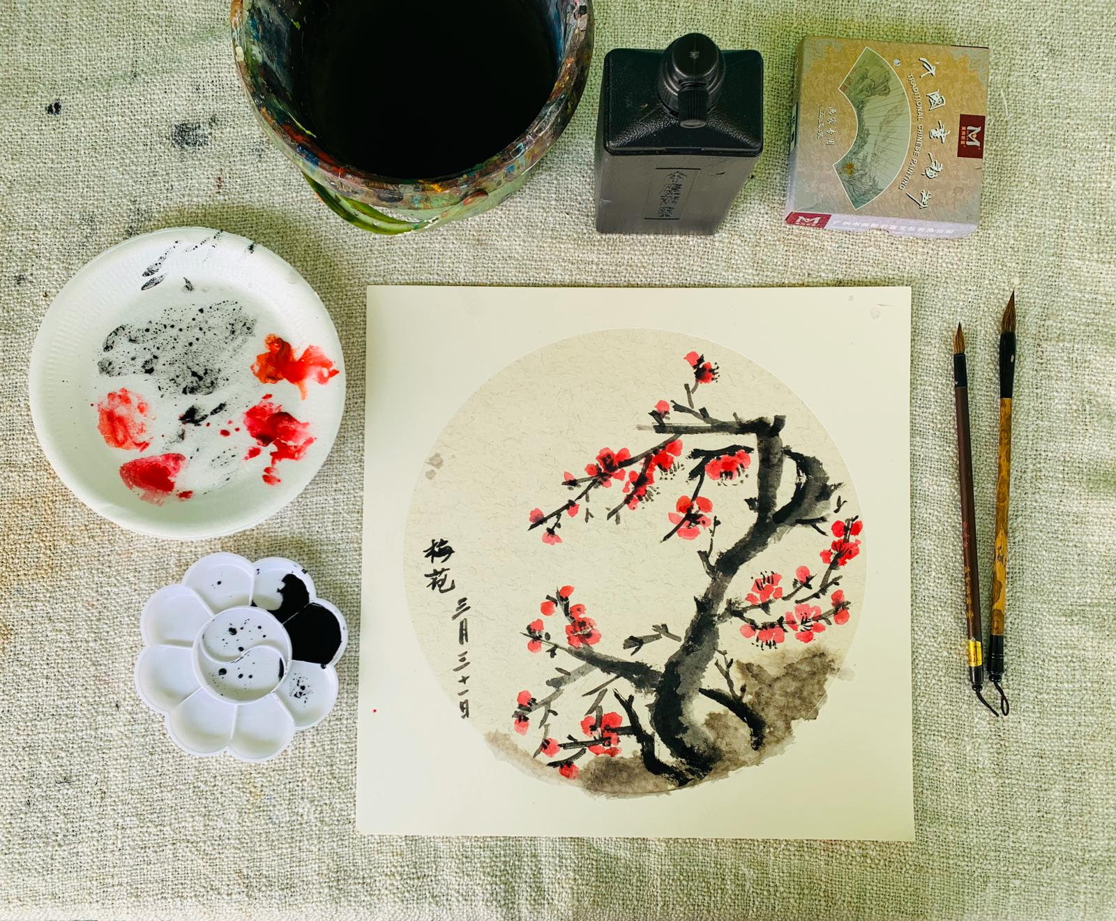 Chinese Ink Painting Art Course Visual Arts Centre Singapore