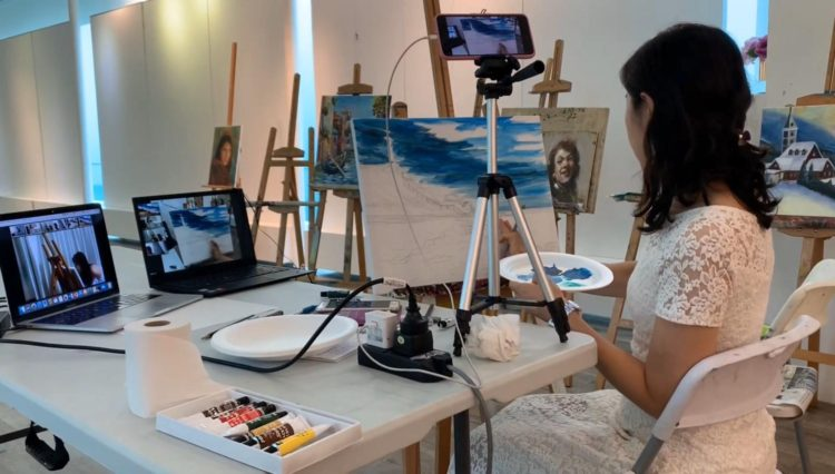 Tailored Acrylic Painting Class Online Art Course Visual Arts Centre Singapore