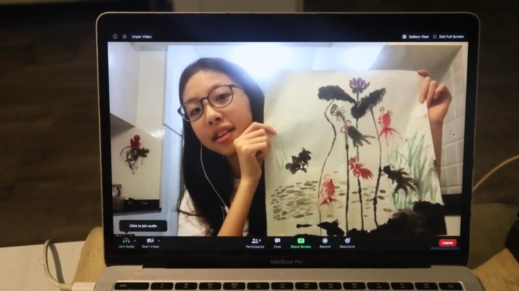 affordable_chinese_ink_painting_class_affordable_chinese_ink_painting_course_fan_painting_watercolour, chinese_ink, chinese_ink_brush_strokes, _ink _painting_online_session, step_by_step