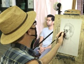 portrait_life_drawing_art_class_visual_arts_centre_live_model_drawing_class_singapore
