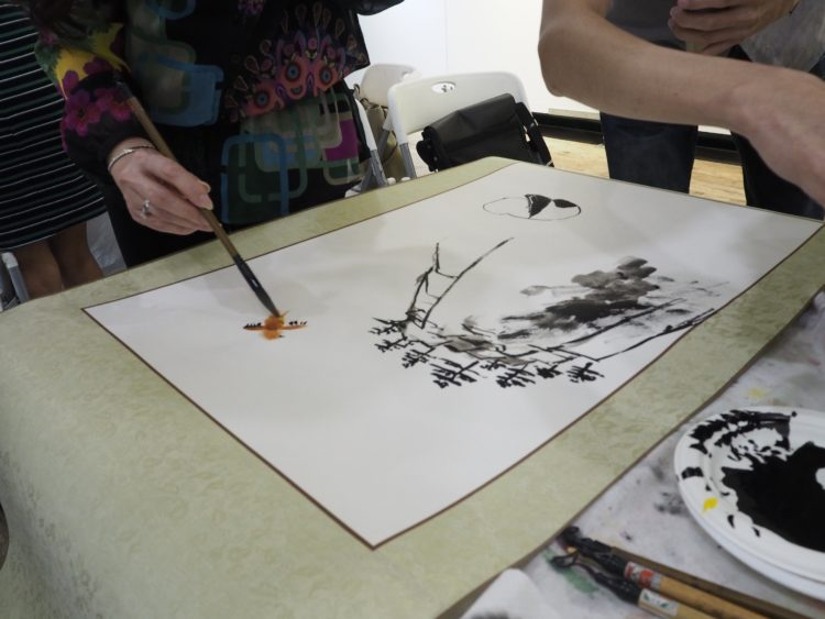 chinese ink painting bamboo singapore