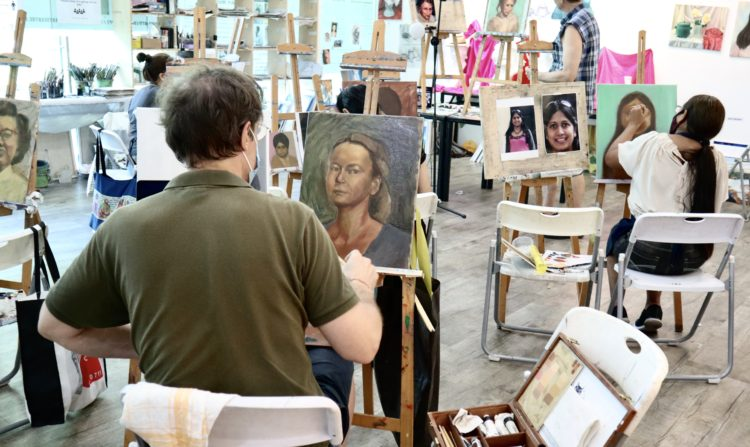 life_live_portrait_model_painting_professional_art_instructors_singapore_visual_arts_centre