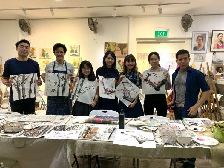 chinese ink painting work singapore