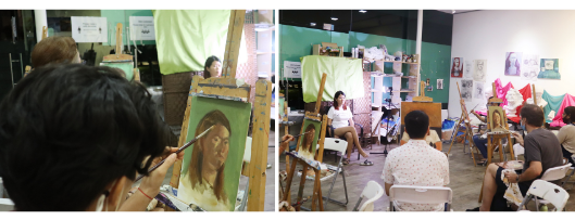 oil portrait painting class