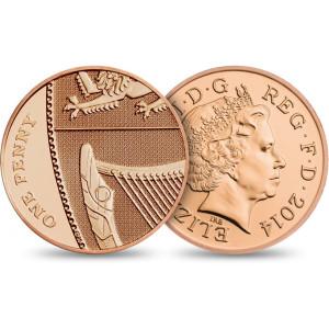 QEII 2014 One Pence