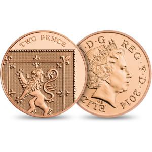 QEII 2014 Two Pence