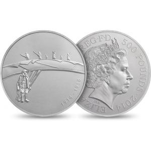 QEII WWI 500 Pound Silver