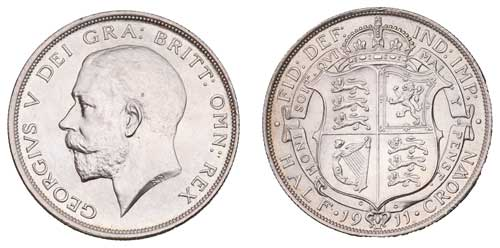 1911 George V Half Crown