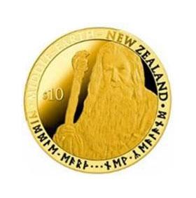 2012 NZ Gandalf $10 Gold