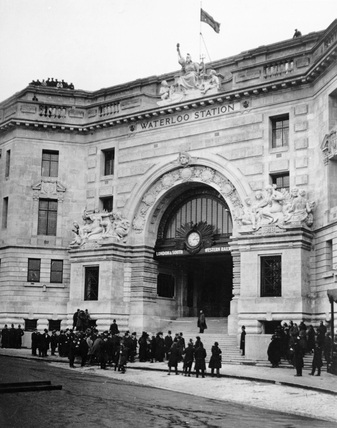 Waterloo Station circa 1922