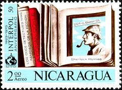An Update On July's HolmeWork Assignment: A Nicaraguan Stamp and the Sherlock Holmes Medal