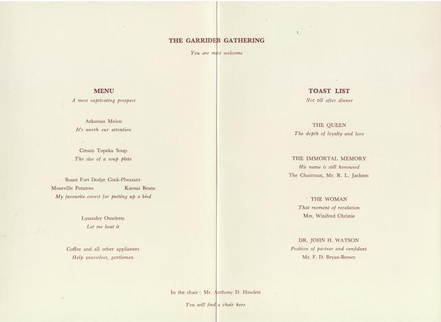 1961 Garrideb Gathering Menu 2-3