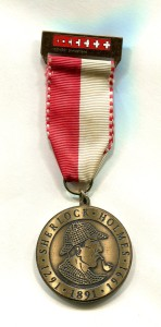 1991 SHSL Swiss Pilgrimage Medal honoring 700th Anniversary of Switzerland & 100th Anniversary of The Final Problem ~ Photo by Roger Johnson