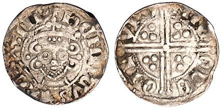 """Penny with """"Long"""" Cross. Henry III. 1247-72"""