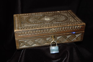 """""""The Professor brought back a little wooden box from his travels."""" ~ WTB CREE EVidence Box"""