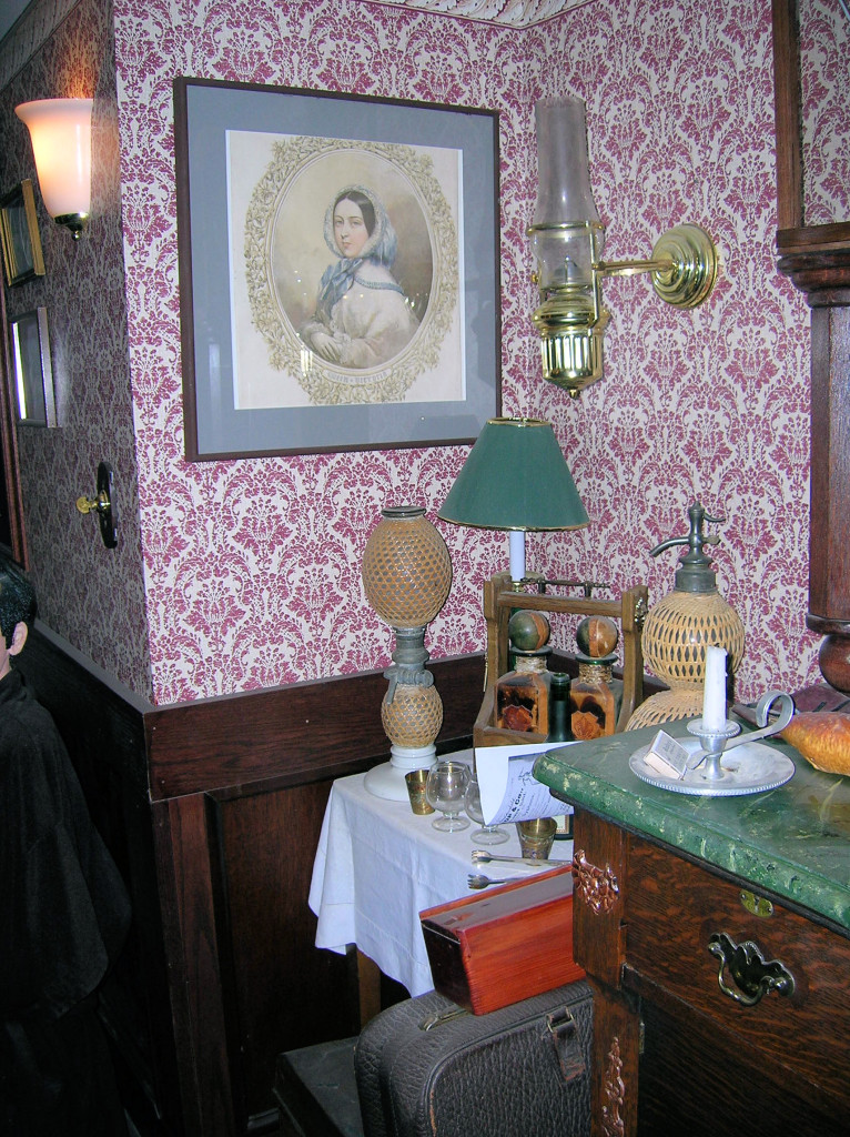 The liquor corner, complete with Gasogene ~ 221B in Reading