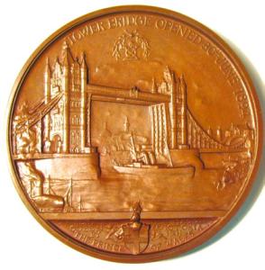 Tower Bridge Opening Medal REV
