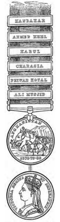 Afghan Medal w clasps