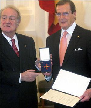Roger Moore German honor