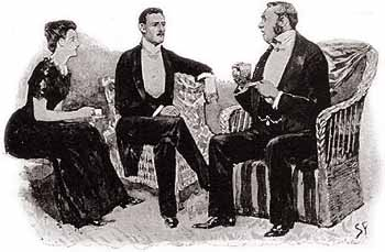 Oh, any old key will fit that bureau. - Illustration by Sidney Paget in The Strand Magazine, May 1892